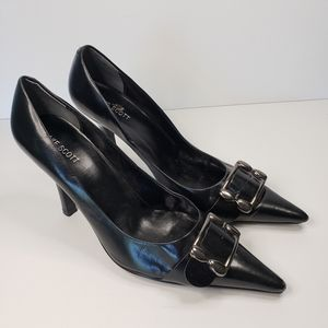 🐞Blake Scott Pointed Toe Black Pumps Heels Size 9